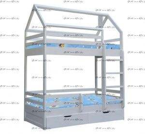 Кровать двухъярусная Домик №В
