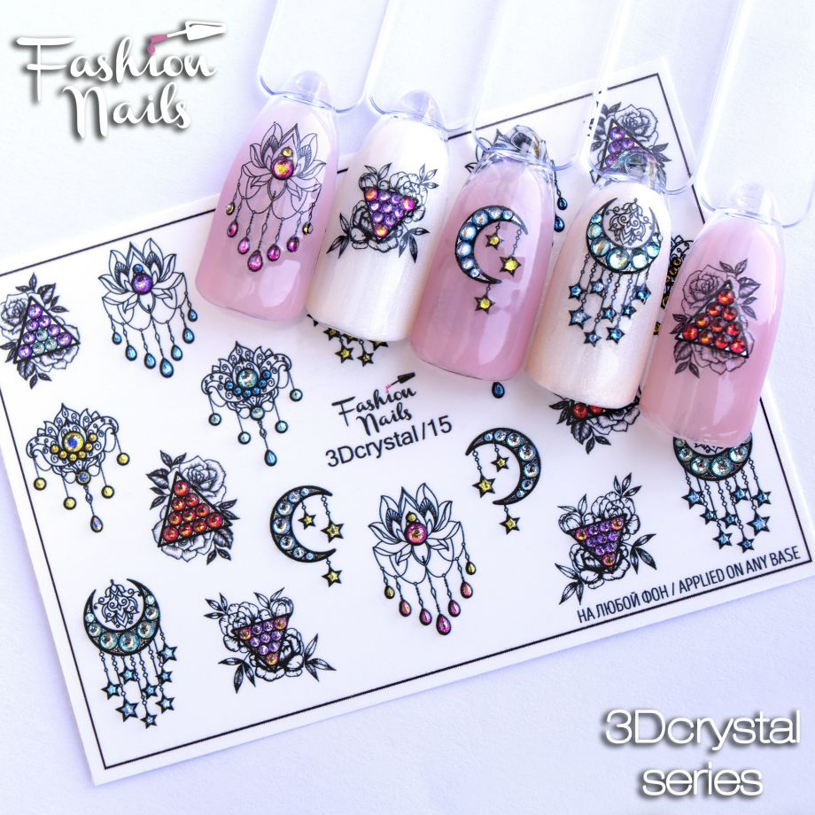 3D слайдер дизайн Fashion Nails Crystal 15