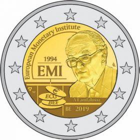 25 лет Европейского валютного института (EMI)  2 евро Бельгия 2019 (BU coincard)