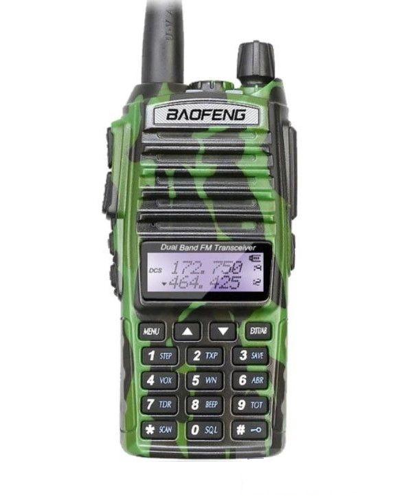 Рация Baofeng UV-82 камуфляж 8 Ватт зеленая / камуфляж