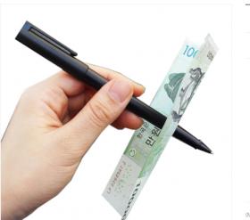 Ручка сквозь купюру - Pen through bill