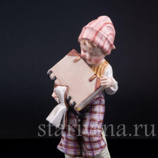 Изображение Мальчик с книгами, E & A Muller, Германия