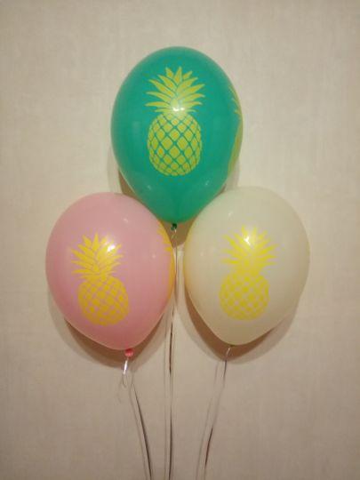 Сочный ананас латексные шары с гелием