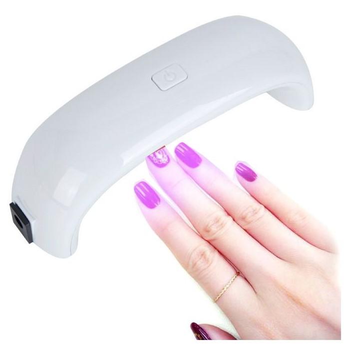 Лампа для сушки гель-лака Mini Rainbow - LED, 9W, USB, цвет белый
