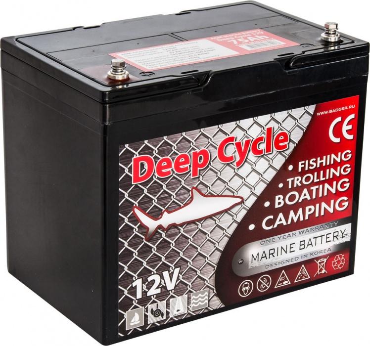 Аккумулятор Marine Deep Cycle AGM 75Ah 12V