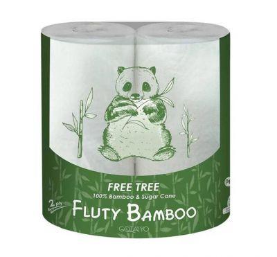 """Gotaiyo """"Fluty"""" Двухслойные бумажные полотенца в рулоне (бамбук), 2 рулона"""