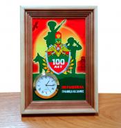 Настольные часы «100 лет ПОГРАНВОЙСКА. ГРАНИЦА НА ЗАМКЕ»