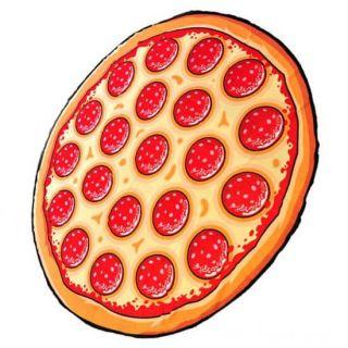 Пляжное шифоновое парео-покрывало, 1,5 м, Пицца