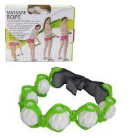 Роликовый ручной массажер-лента Massage Rope HX-8866, Цвет: Зеленый