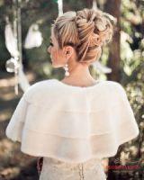 Меховые накидки для невесты, норковая накидка спинка