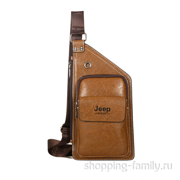 Мужская сумка Jeep Buluo, коричневая