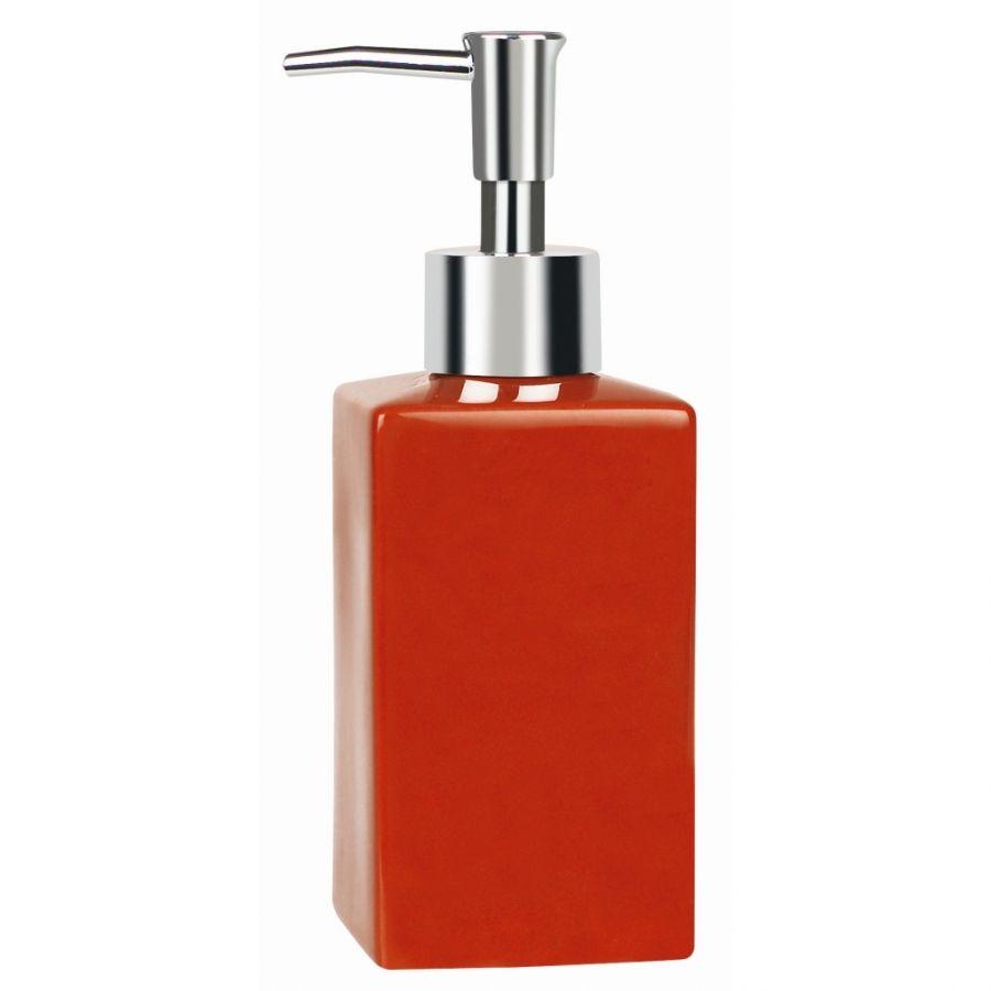 QUADRO Ёмкость д/жид.мыла(Керамика/красный)