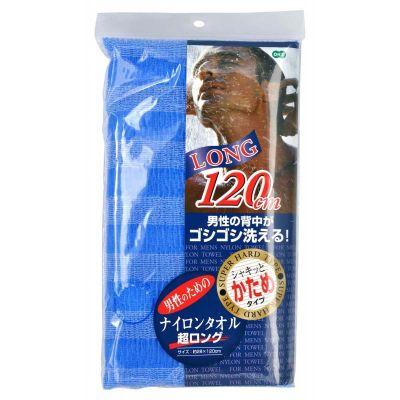 OHE Мочалка для тела сверхжесткая (синяя) 120см
