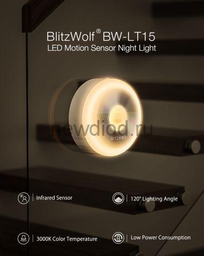 Светильник - ночник светодиодный с датчиком движения BlitzWolf®
