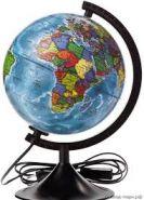 Глобус Земли политический с подсветкой (диаметр 250) (арт. ГЗ-250пп)