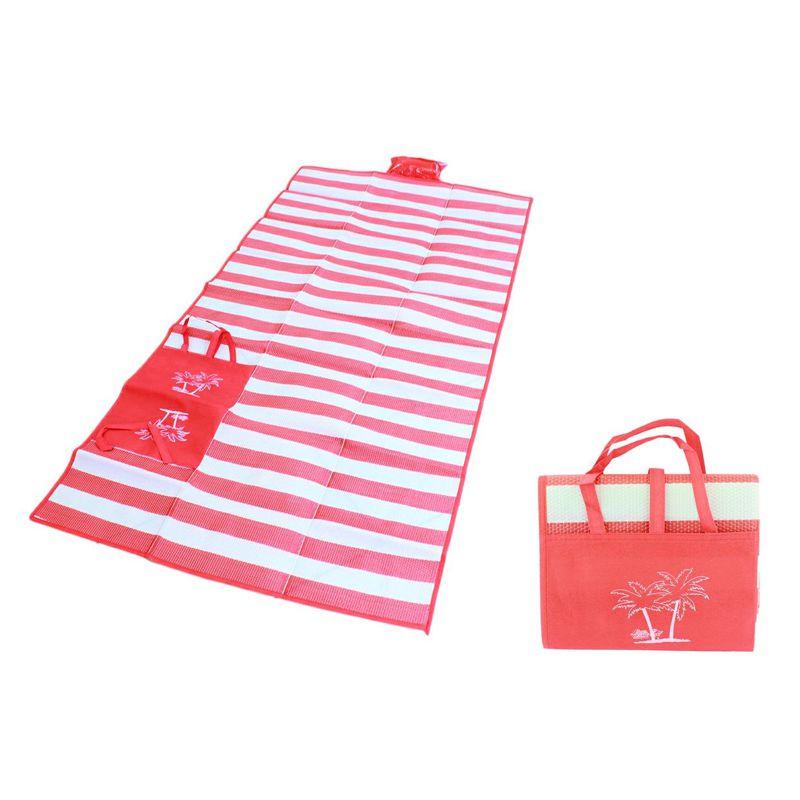 Пляжный Коврик С Ручками Для Переноски, 120х170 См, Цвет Красный