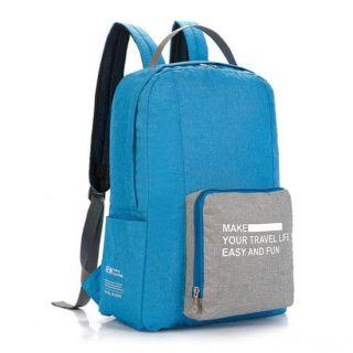 Складной туристический рюкзак New Folding Travel Bag Backpack 20, Цвет: Голубой