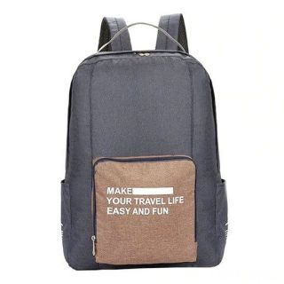 Складной туристический рюкзак New Folding Travel Bag Backpack 20, Цвет: Тёмно-серый