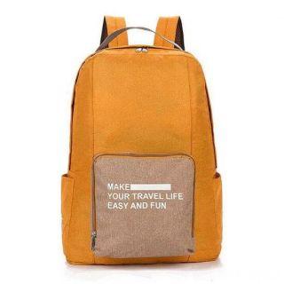 Складной туристический рюкзак New Folding Travel Bag Backpack 20, Цвет: Оранжевый