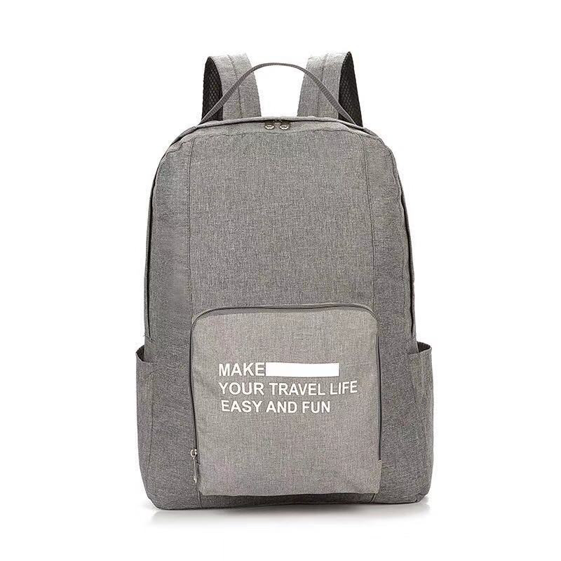 Складной Туристический Рюкзак New Folding Travel Bag Backpack 20, Цвет Светло-Серый