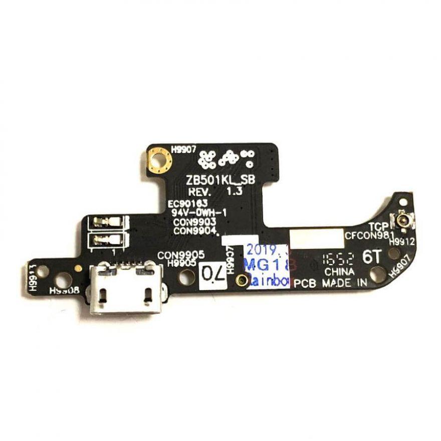 Нижняя плата с разъемом зарядки и микрофоном для Asus Zenfone Live (ZB501KL)