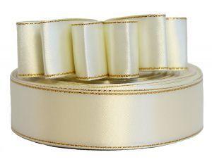 `Лента атласная с металлизированной кромкой, ширина 25 мм, цвет: 3002