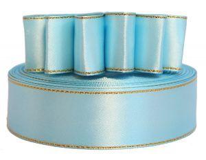 `Лента атласная с металлизированной кромкой, ширина 25 мм, цвет: 3105