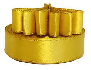 `Лента атласная с металлизированной кромкой, ширина 25 мм, цвет: 3023