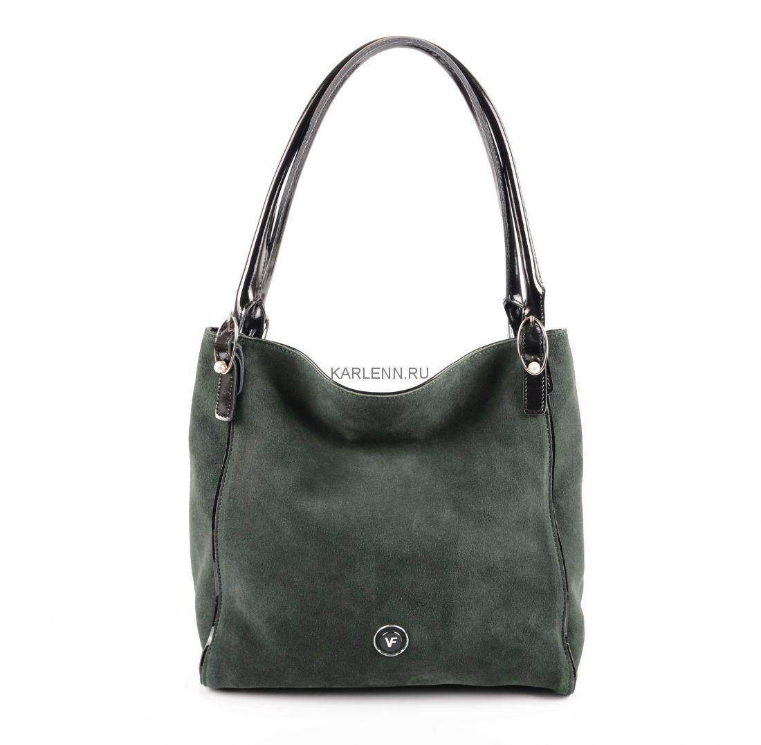 Сумка-шоппер Velina Fabbiano (зелёная)
