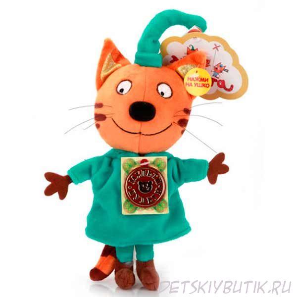 Озвученная мягкая игрушка из мультсериала «Три кота» – Компот, 16 см