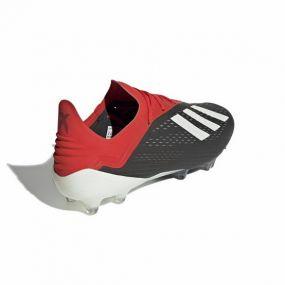 Футбольные бутсы adidas X 18.1 FG чёрные с красным