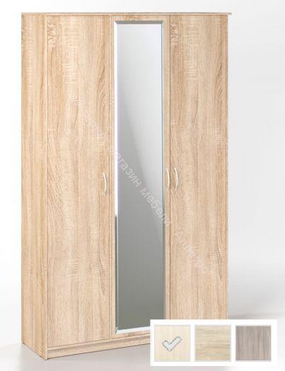 """Шкаф """"Дуэт Люкс"""" 3-х дверный с зеркалом"""