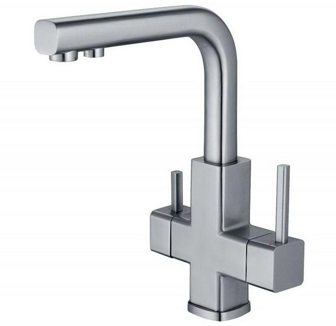 Двухрычажный смеситель для кухни (мойки) ZorG InoX Damas SZR-1126