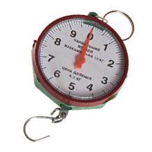 Безмен круглый, 10 кг, Цвет: Зеленый и бордовый