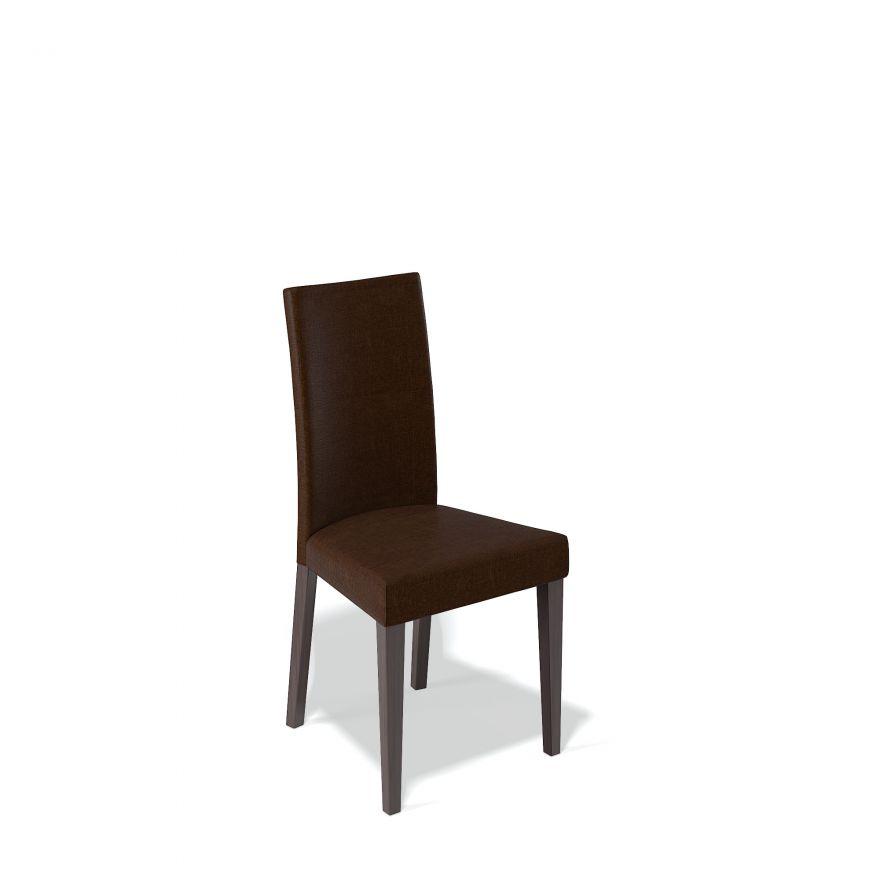 Деревянный стул KENNER 101М, с мягким сиденьем и спинкой, цвет венге - коричневый