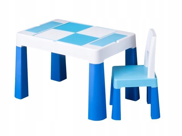 Комплект детской мебели Tega Baby MULTIFUN бело-синий
