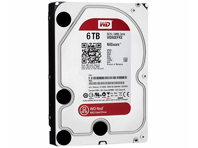 Жёсткий диск для СХД HDD 3,5 SATA 6 TB WD RED, WD60EFRX
