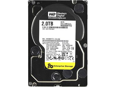 Жесткий диск WD SATA-III 2Tb RE (7200rpm) 64Mb 3.5, WD2000FYYZ