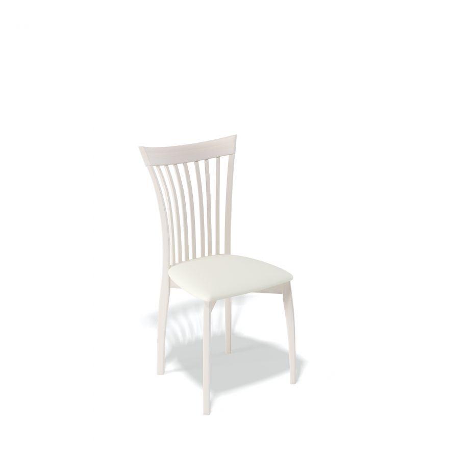 Деревянный стул KENNER 102М, с мягким сиденьем, цвет бук - крем