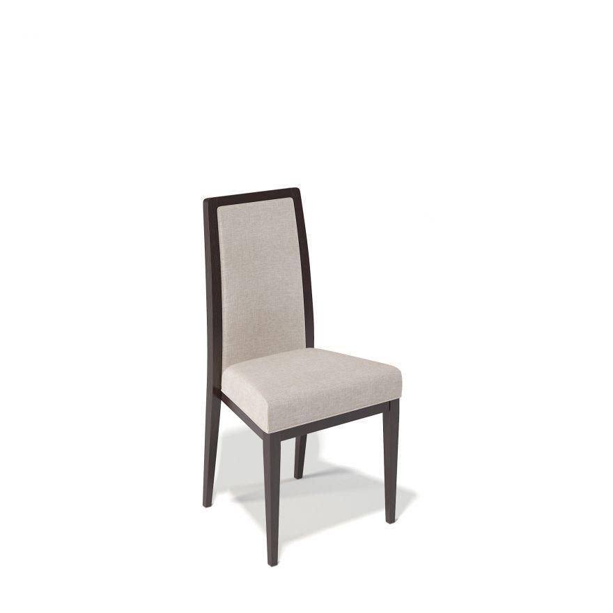 Деревянный стул KENNER 109М с мягким сиденьем и спинкой, цвет венге - бежевый