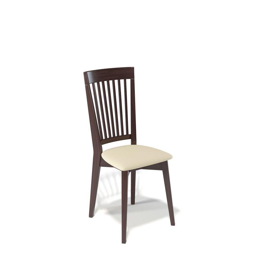 Деревянный стул KENNER 110М, с мягким сиденьем, цвет венге - крем