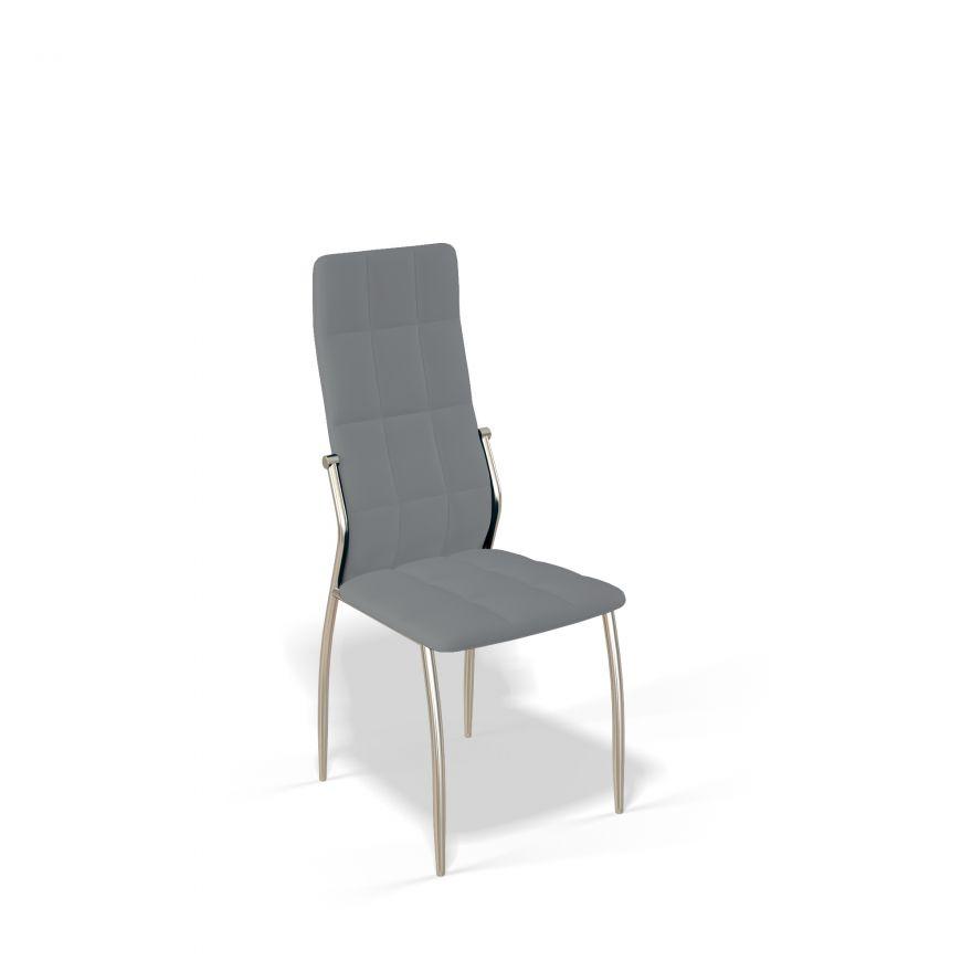 Стул для гостиной KENNER 106S, с мягким сиденьем и спинкой, серый