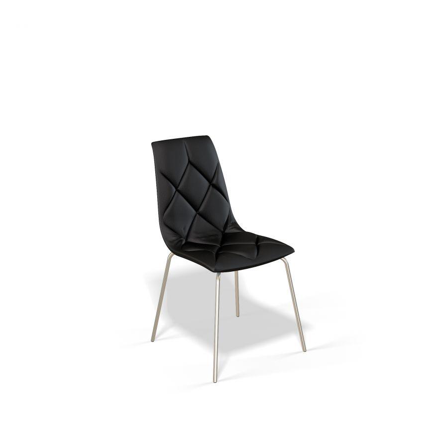 Стул для гостиной KENNER 108S, с мягким сиденьем и спинкой, черный