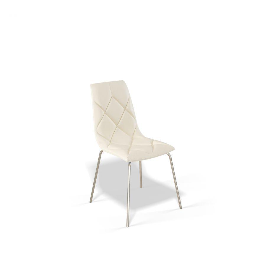Стул для гостиной KENNER 108S с мягким сиденьем и спинкой, крем