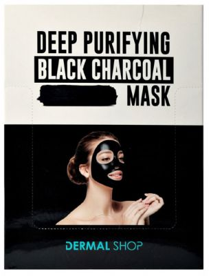 Dermal Shop Deep Purifying Black Charcoal Маска для лица c экстрактом древесного угля, зеленого чая и чайного дерева