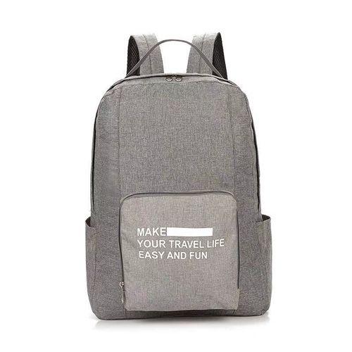 Складной туристический рюкзак New Folding Travel Bag Backpack 20: цвет – серый.