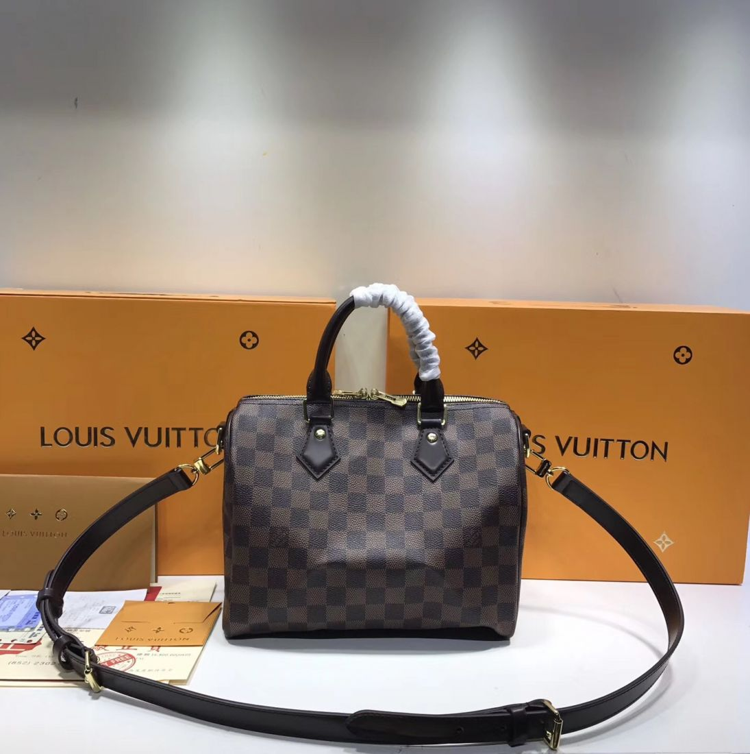 Сумка Louis Vuitton Speedy 25 Damier Ebene Canvas
