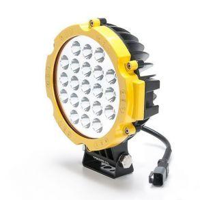 Желтая светодиодная фара 63 ватт Дальнего света