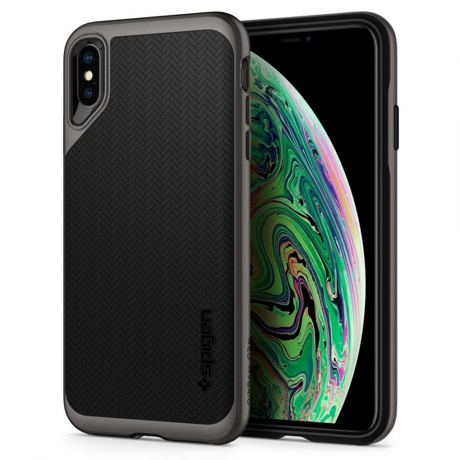 Чехол SGP Spigen Neo Hybrid для Apple iPhone XS Max стальной