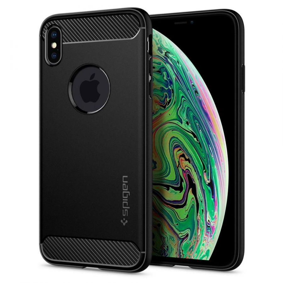 Чехол SGP Spigen Rugged Armor для Apple iPhone XS Max черный